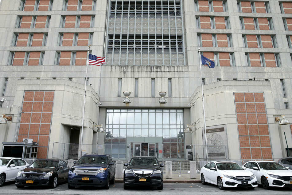 Gates surround entrances to the Metropolitan Detention Center in Brooklyn where Ghislaine Maxwell is imprisoned.