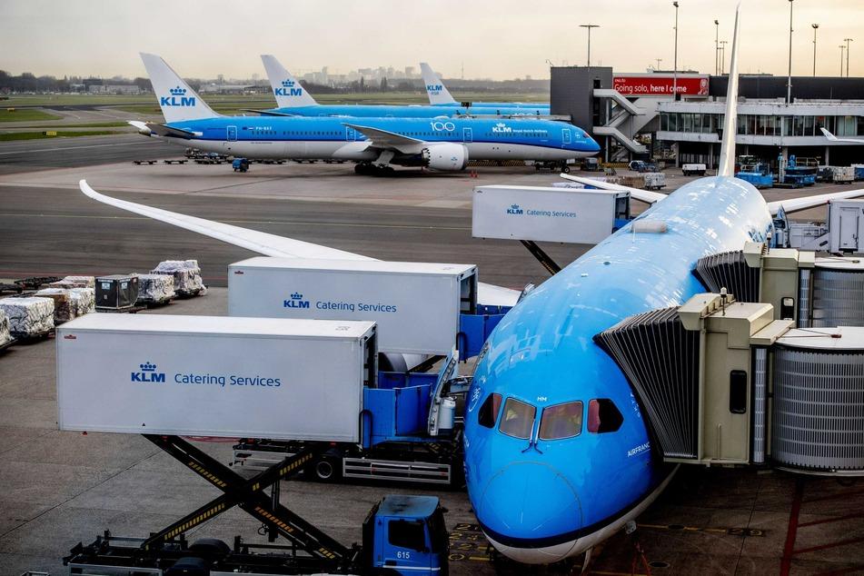 Ein Flugzeug der niederländischen Gesellschaft KLM war Schauplatz des Vorfalls. (Archivbild)