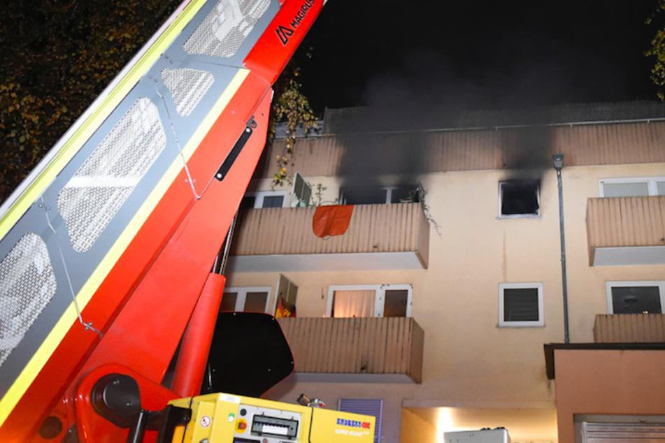 Dichter Rauch quoll aus den Fenstern der Wohnung in Untergiesing.