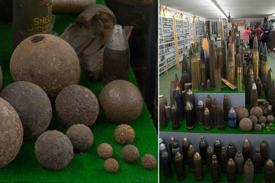 Den Kampfmittelbeseitigungsdienst Sachsen gibt es seit 1949. Dadurch kamen bereits allerhand Fundstücke zusammen.