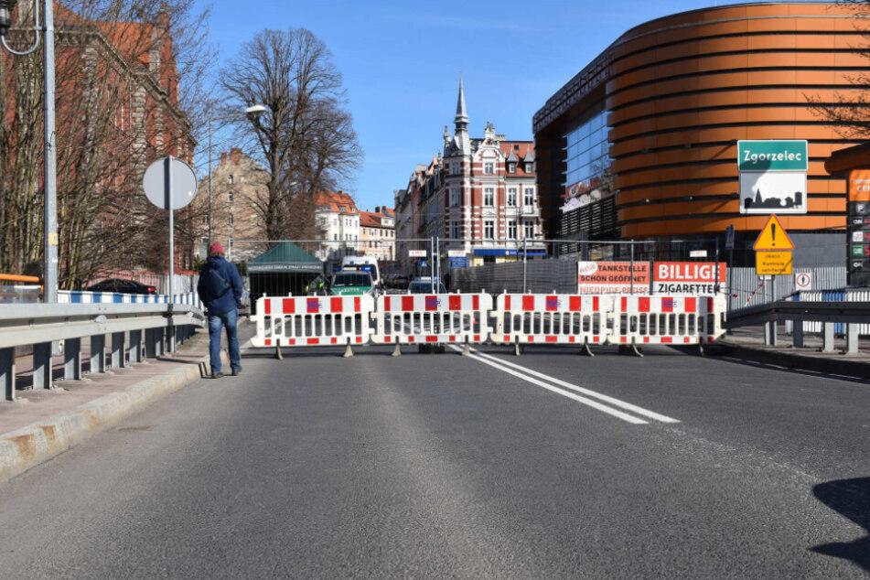 Die deutsch-polnische Grenze ist auch in Görlitz geschlossen.