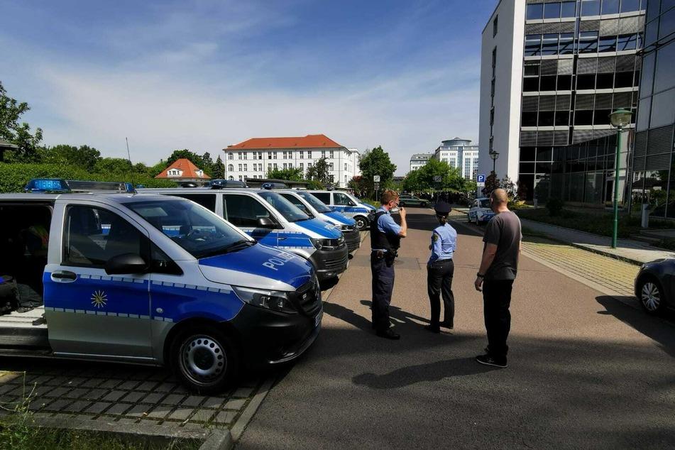 Leipzig: Bombendrohung im Technischen Rathaus: Polizei gibt Entwarnung