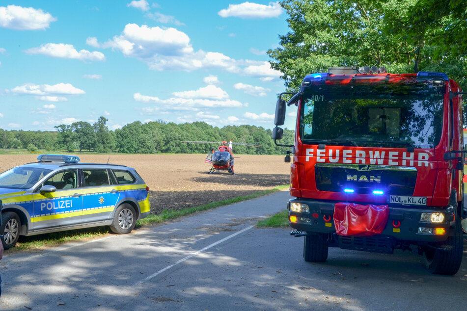 Polizei, Feuerwehr und auch ein Rettungshubschrauber waren im Einsatz.