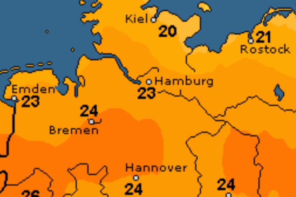 Es werden Temperaturen bis 24 Grad erwartet.