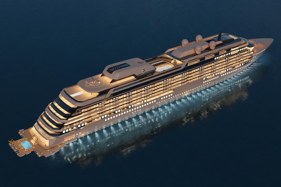 """Die Computerdarstellung zeigt des Appartementschiff """"Njord""""."""