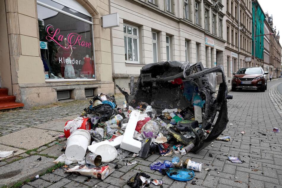 An der Limbacher Straße wurde auch gezündelt.