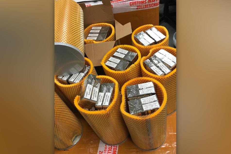 Das Zollamt hat am Flughafen Köln/Bonn riesige Mengen an geschmuggelten Zigaretten sichergestellt.
