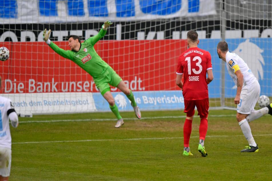 Sascha Mölders (r.) traf für den TSV 1860 München.