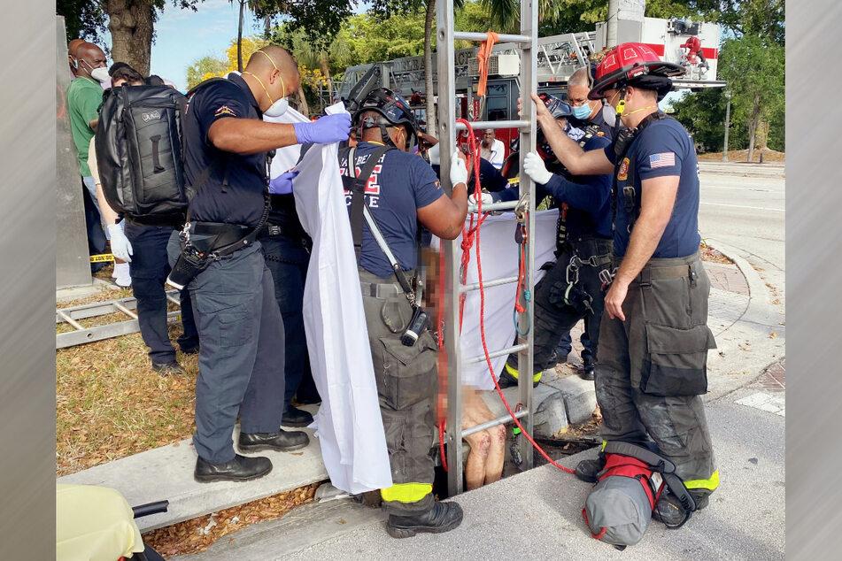 Nach drei Wochen wurde eine vermisste Frau aus der Kanalisation gerettet.
