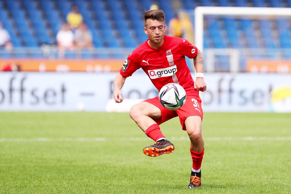 Brauchte keinen Anlauf, kam sofort wieder in Zwickau klar: Rückkehrer Patrick Göbel (28).