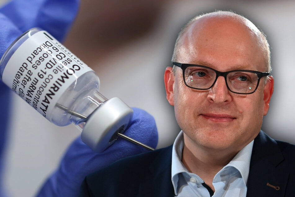 Oberbürgermeister Sven Schulze (49, SPD) erhielt am Montag die erste Corona-Impfung. Er bekam das Vakzin von Biontech.
