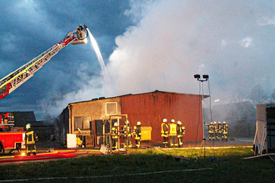 Ein Blitzeinschlag könnte für das Feuer in dem Schweinestall in Wächtersbach verantwortlich gewesen sein.