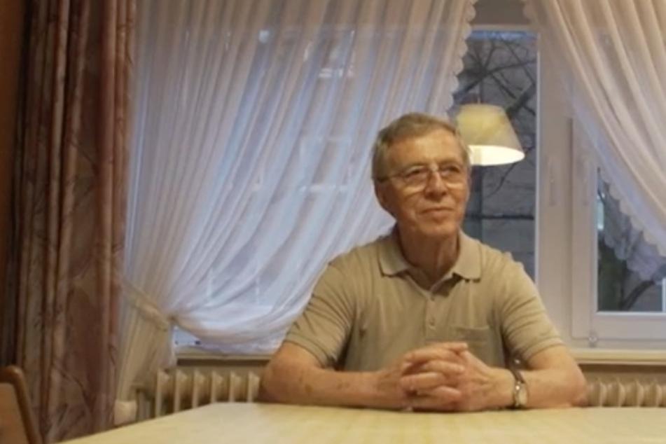 Senior Alex wegen der Corona-Pandemie zu seiner Frau ins Seniorenheim. Sonst dürfte er sie nicht sehen.