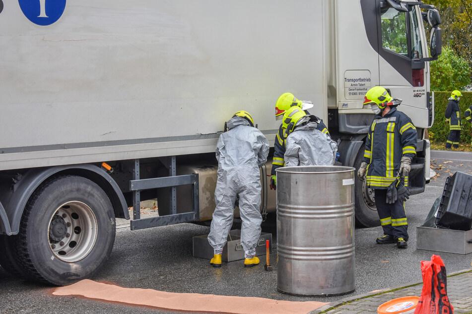 Dieseltank aufgerissen: ABC-Alarm im Erzgebirge