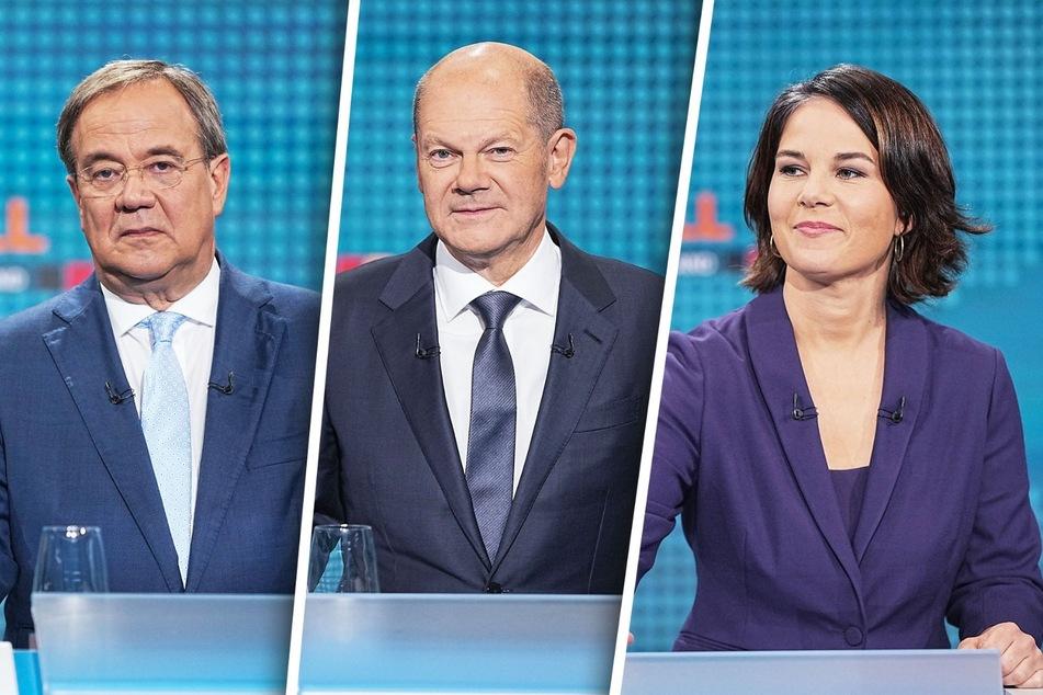 CDU-Chef Armin Laschet (60), Vizekanzler Olaf Scholz (63, SPD) und Grünen-Vorsitzende Annalena Baerbock (40) stellten sich am Sonntagabend in einem Triell.