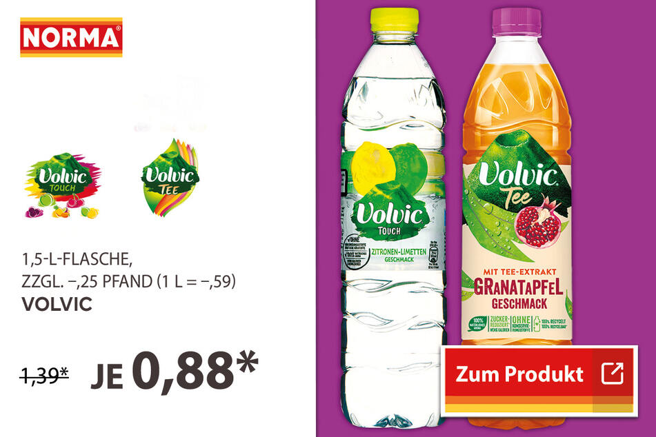 Volvic für 0,88 Euro