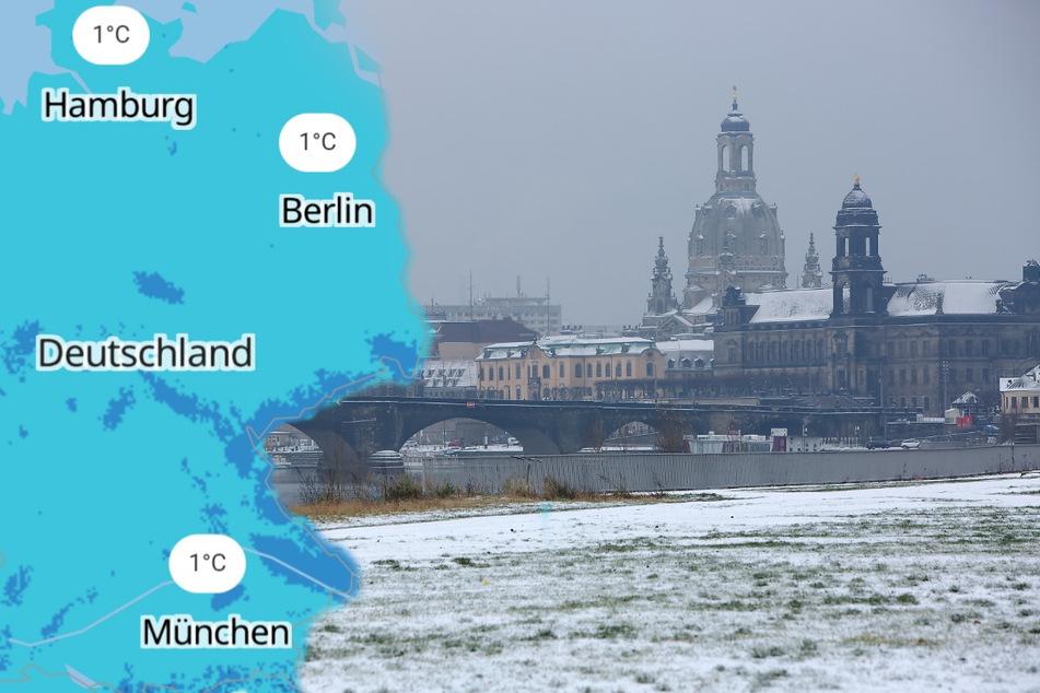 Eiskalter Bombenzyklon sorgt für Schnee und kräftige Stürme am ersten Adventswochenende