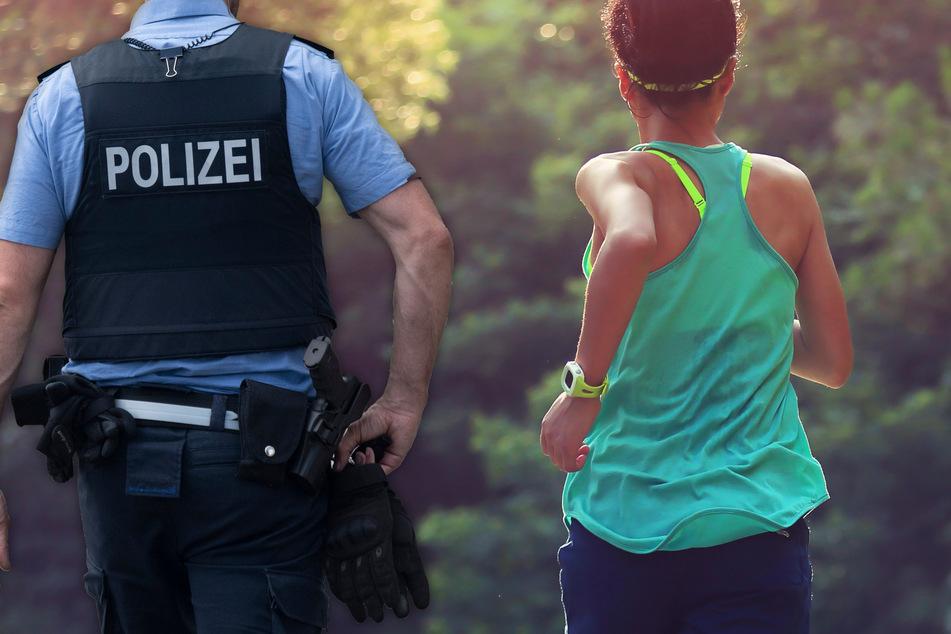 Fotomontage: Nachdem die Joggerin die Selbstschussanlage entdeckt hatte, reif sie umgehend die Polizei (Symbolfoto).