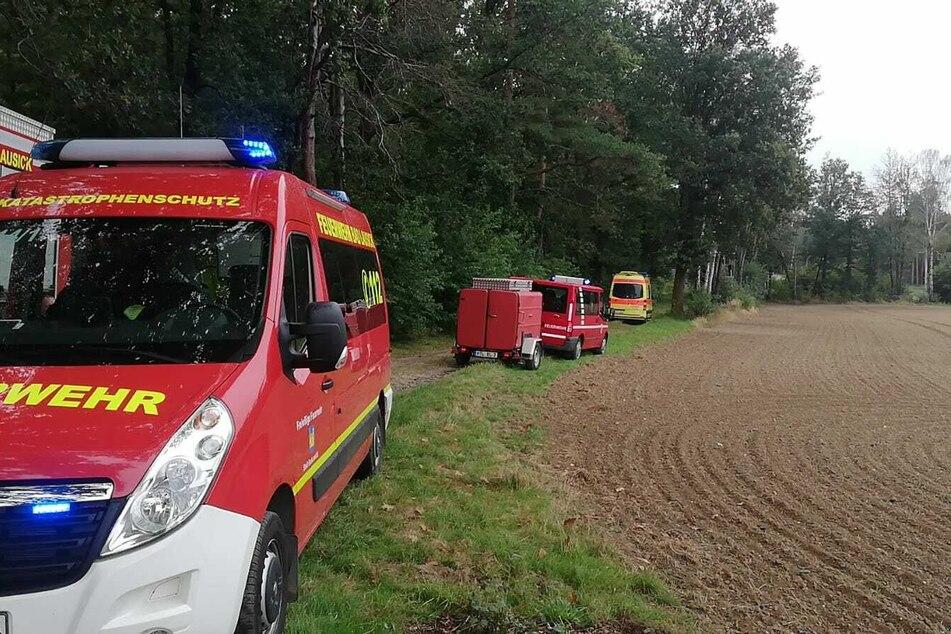 Feuerwehr, Polizei und Rettungsdienst sind vor Ort.