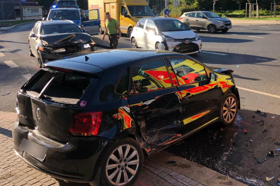 Zwickau: Unfall legt Moccabar-Kreuzung lahm