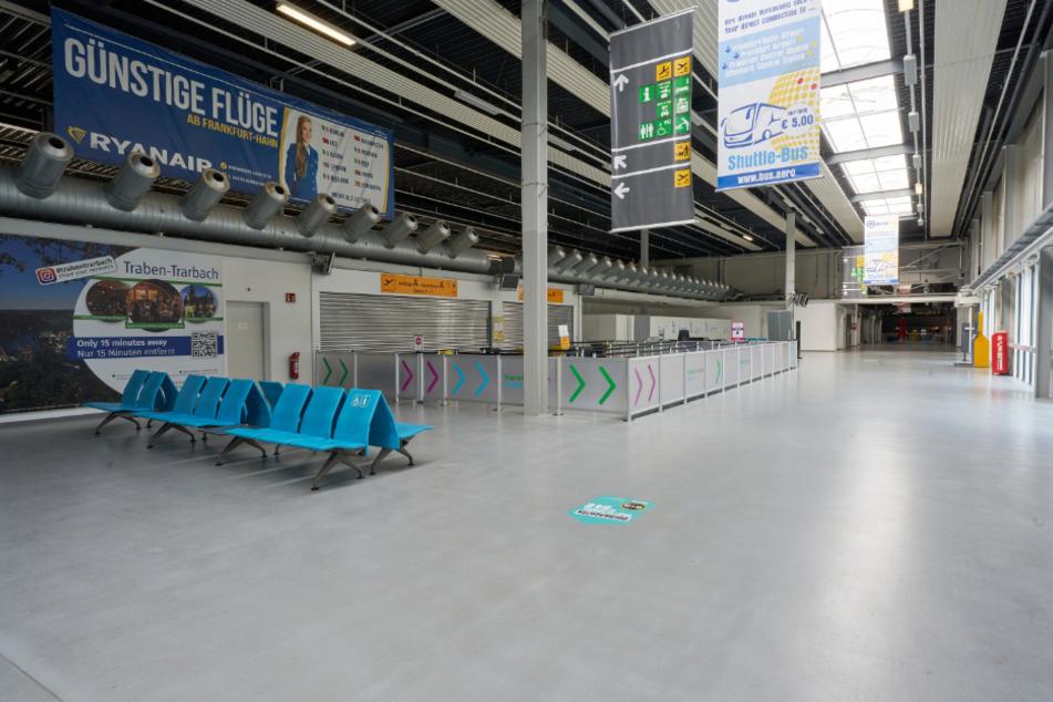 Alles leer: Der Airport Hahn gleicht einem Geisterflughafen.