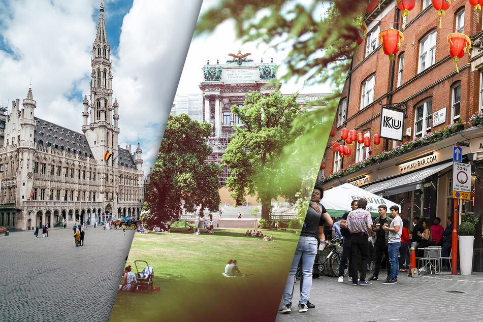 Brüssel (v.l.n.r.), Wien oder London? Deutschen Urlaubern stehen viele Ziele offen.
