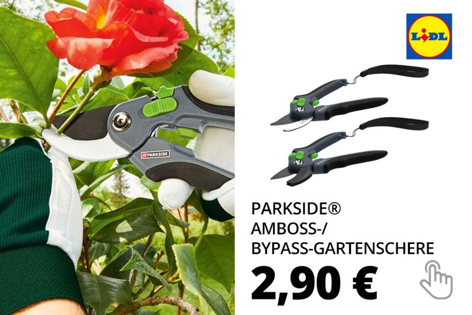 PARKSIDE® Amboss-/ Bypass-Gartenschere, mit Handschlaufe, Schneidklinge aus Karbonstahl