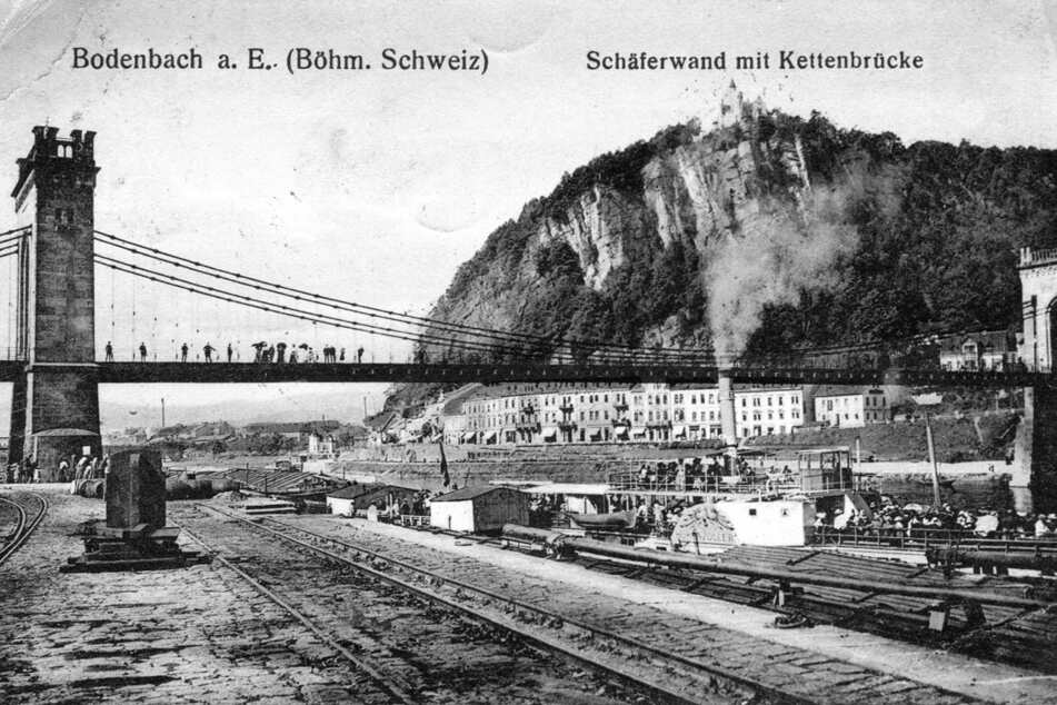 """Die """"Hohenzollern - hier um 1915 - fuhr regelmäßig nach Decin."""