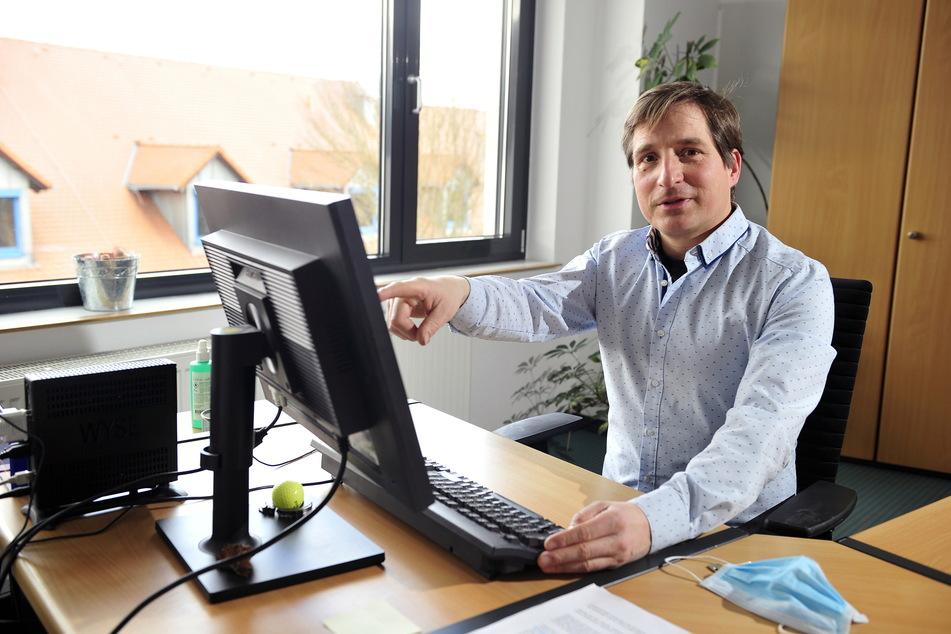 Martin Jänsch (45) von der Handwerkskammer warnt vor betrügerischen Phishing-E-Mails an Handwerker.