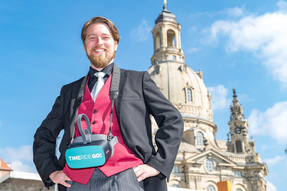 TimeRide-Chef Jonas Rothe (34) entführt virtuell in ferne Zeiten.