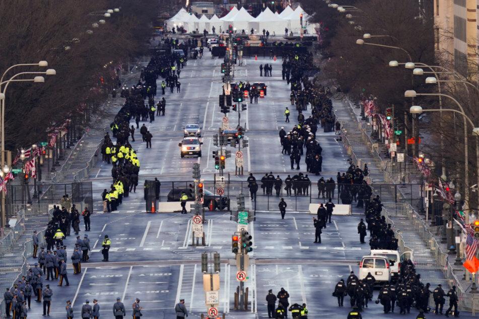 Unter immensen Sicherheitsvorkehrungen findet die feierliche Amtseinführung statt.