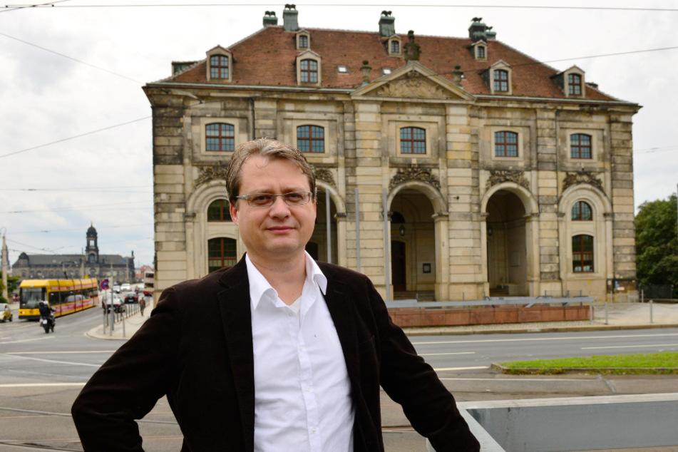 Will den Verkehr möglichst komplett von Neustädter Markt verbannen: Torsten Kulke (54) von der Gesellschaft Historischer Neumarkt.