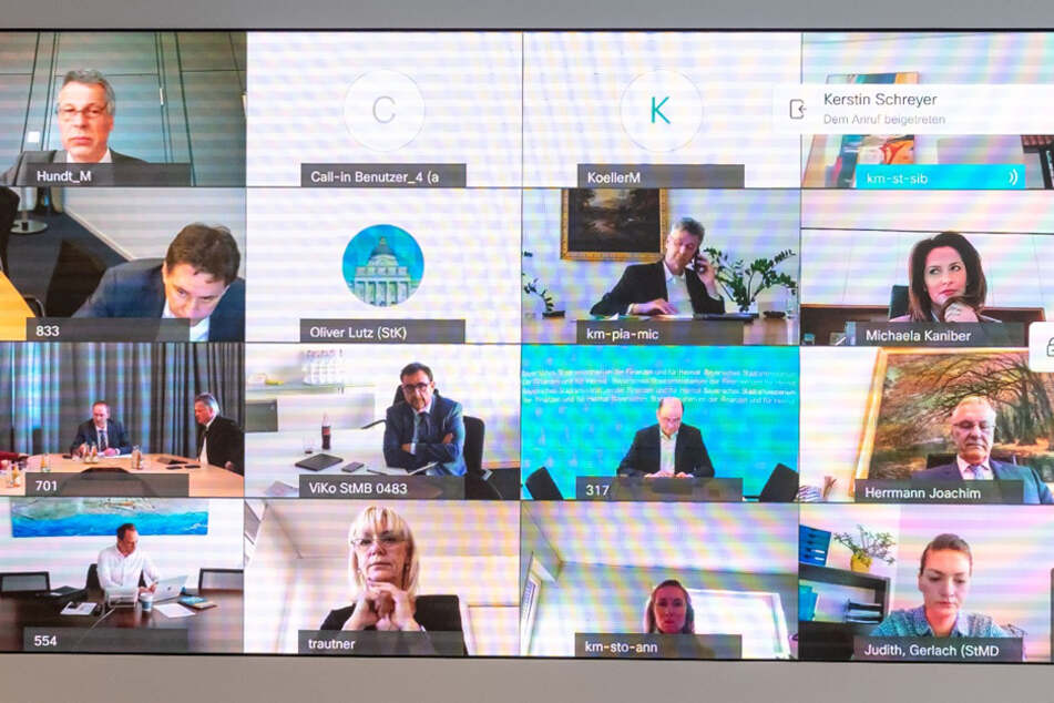 Videokonferenzen wurden auch in der bayerischen Politik sehr schnell zum Standard. (Archivbild)