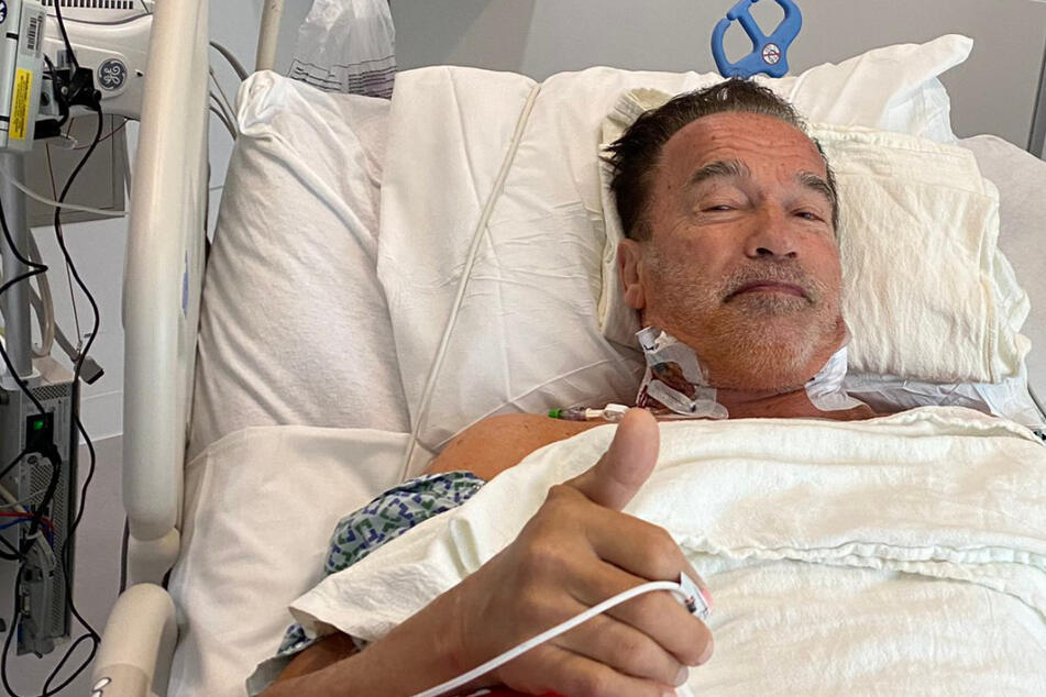Arnold Schwarzenegger posts update from hospital after successful heart surgery