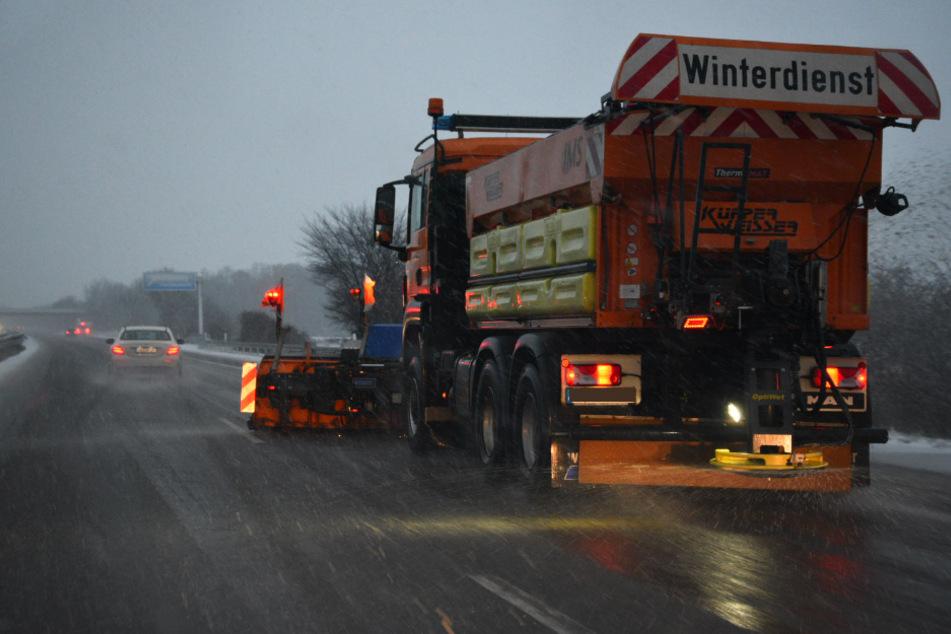 Ein Winterfahrzeug wurde auf der A5 eingesetzt.