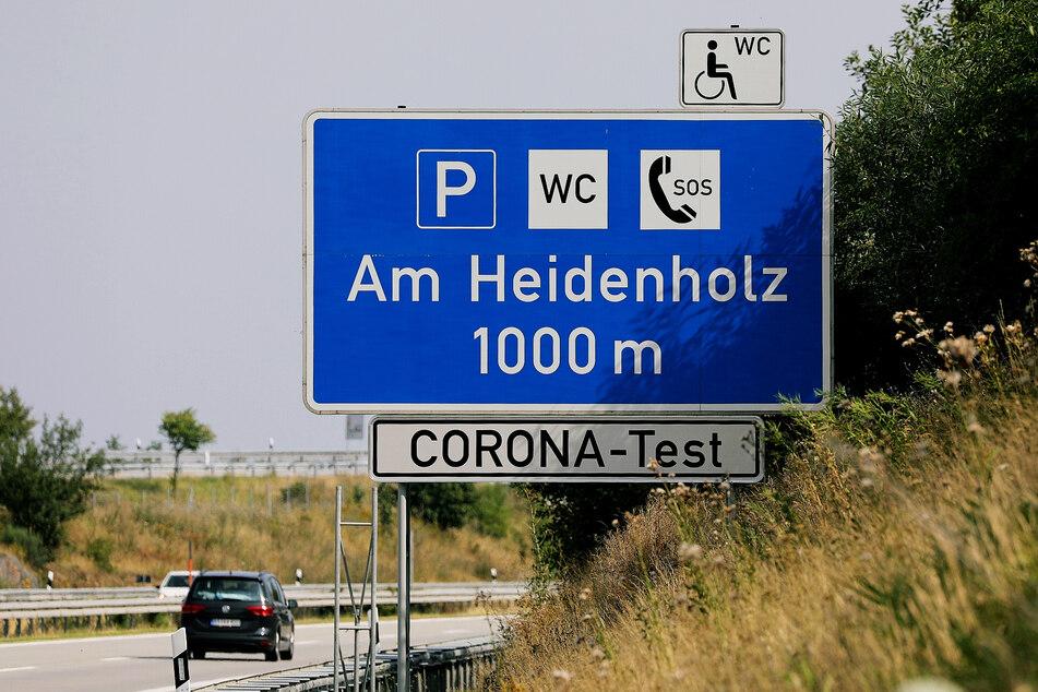 """Am Rastplatz """"Am Heidenholz"""" befindet sich das neue Corona-Testzentrum."""