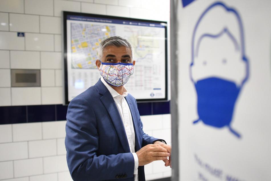 Sadiq Khan, Bürgermeister von London. Trotz dramatisch steigender Infektionszahlen sind am Montag in England fast alle Corona-Maßnahmen aufgehoben worden.
