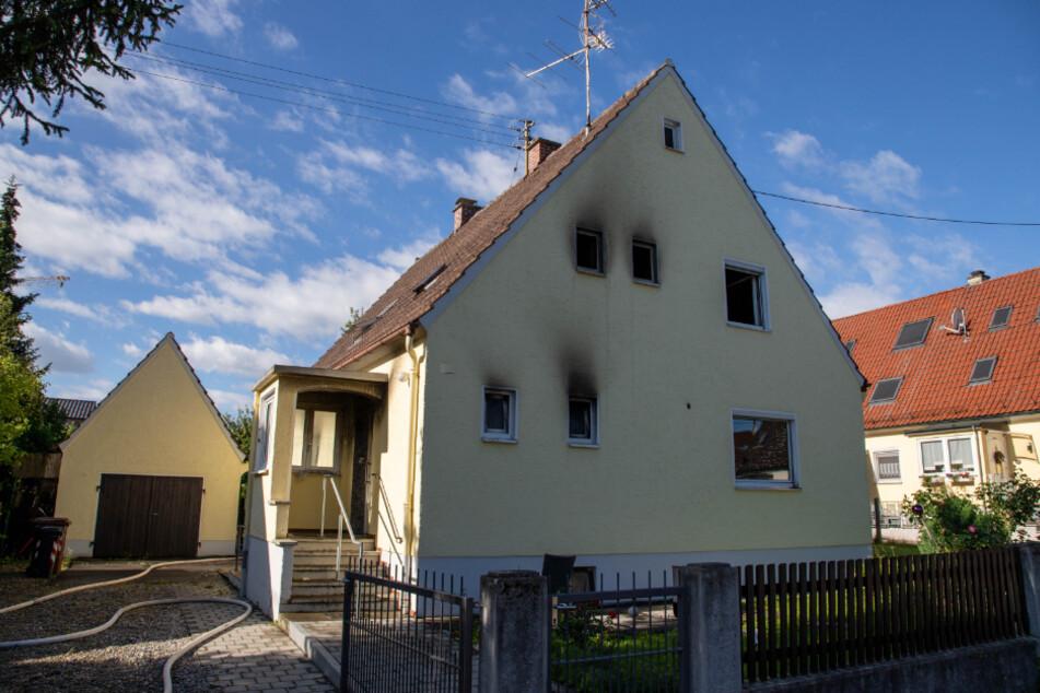 Das betroffene Wohnhaus in Meitingen.
