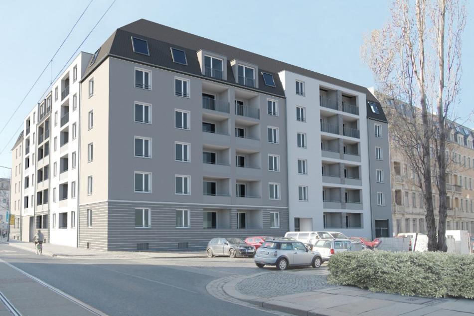 Bis März 2022 soll an der Schäferstraße dieses Wohnhaus entstehen.