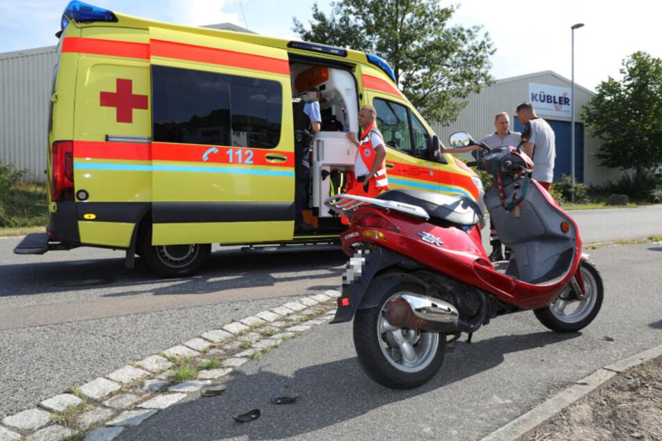 3,2 Promille: Betrunkene Fahrerin stürzt von ihrem Roller