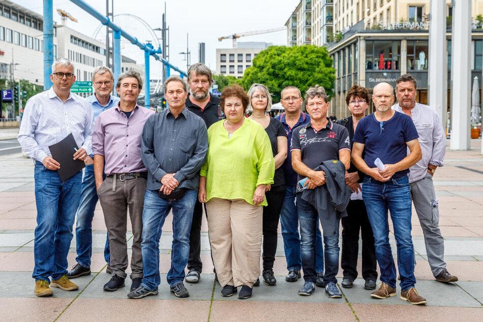"""Die """"Bürgerinitiative Fernsehturm Dresden"""" ist mit den momentanen Plänen der Stadt unzufrieden."""