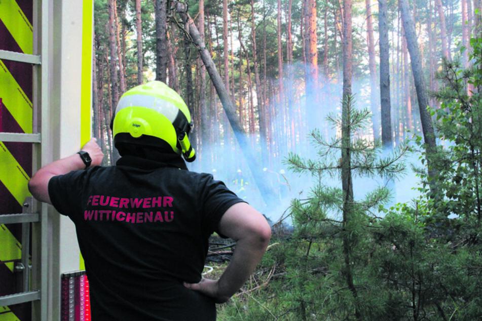 Die Ursache, warum es in Wittichenau brannte, ist noch unklar.
