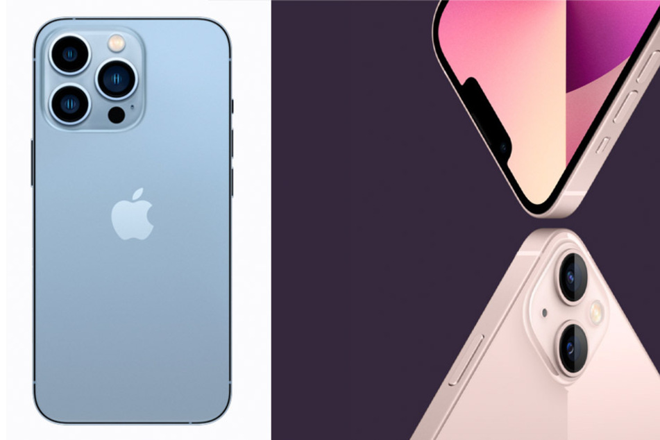 The new iPhone 13 (r.) and iPhone 13 Pro (l.) will be available for purchase on September 24.