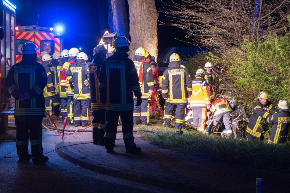 Die beiden Insassinnen mussten von der Feuerwehr befreit werden.