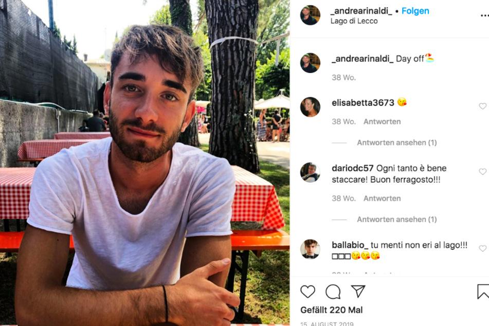 Andrea Rinaldi (19) kämpft auf der Intensivstation des Krankenhauses in Varese um sein Leben.