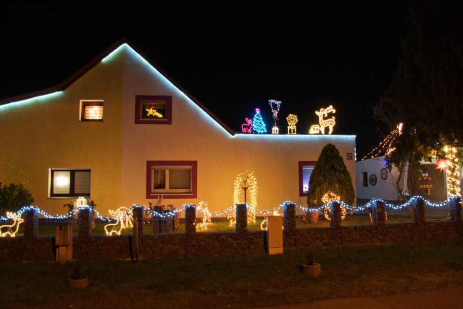 Das Haus von Jeannette (46) und Thomas Werner (47) erstrahlt Jahr für Jahr zu Weihnachten.