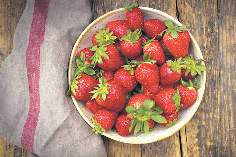 Erdbeeren! Die gibt's im Erlebnis-Dorf in allen Variationen.