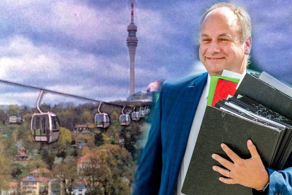 Seilbahn-Diskussion um Dresdner Fernsehturm: Jetzt schaltet sich OB Hilbert ein!