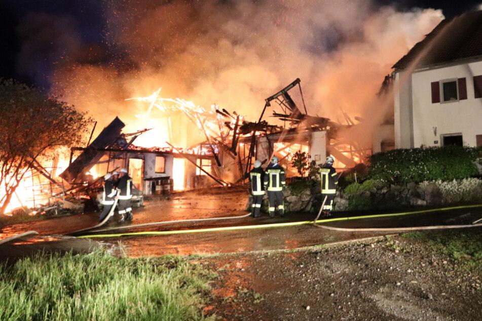 Großbrand auf Bauernhof im Allgäu: 1,2 Millionen Euro Schaden!