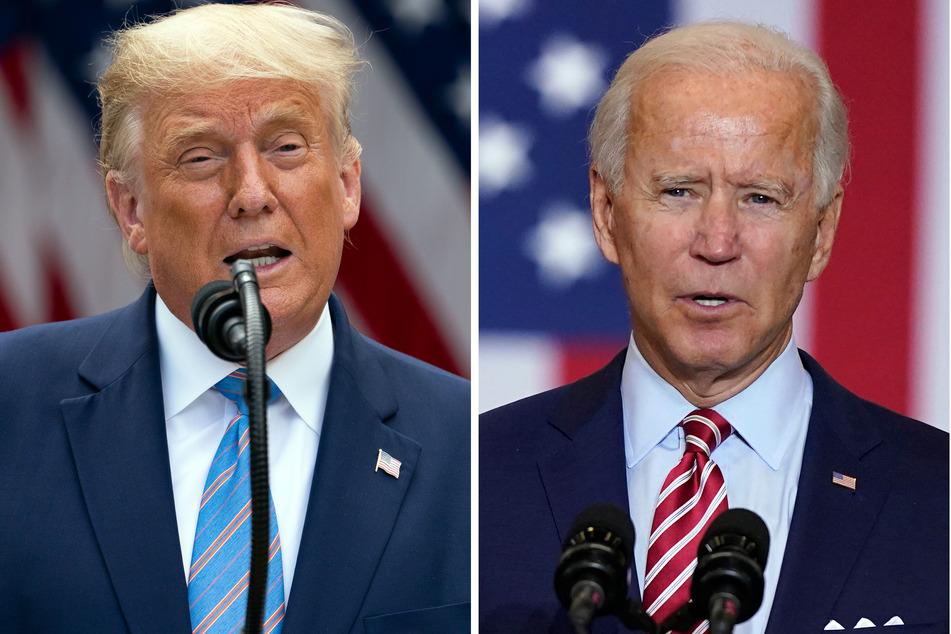 US-Wahl 2020: Die Kandidaten Trump (li.) und Biden sind bekannt für hitzige TV-Duelle (Foto: Foto: Evan Vucci/Patrick Semansky/AP/dpa).